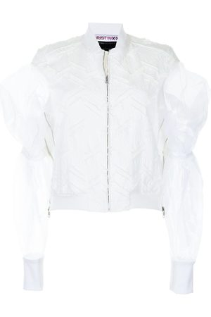 JUST IN XX Tulle-sleeve cotton bomber jacket