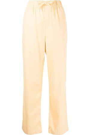 Tekla Flannel drawstring pajama trousers
