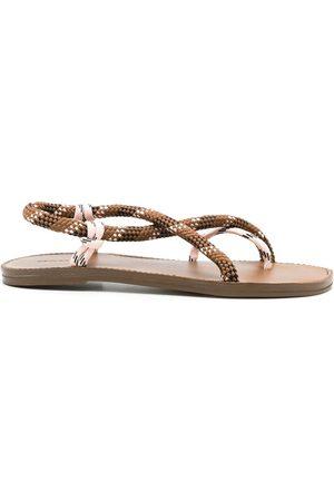 OSKLEN Ženy Bez podpadku - Cross rope flat sandals