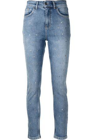 Twin-Set Ženy Rovné nohavice - Crystal-embellished jeans