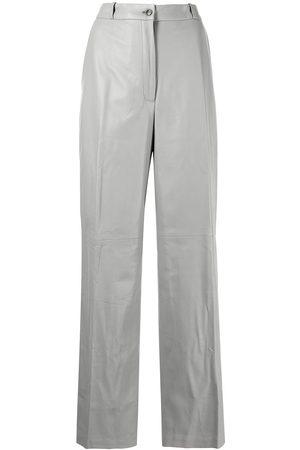 Loulou Studio Ženy Kožené kalhoty - Straight-leg leather trousers
