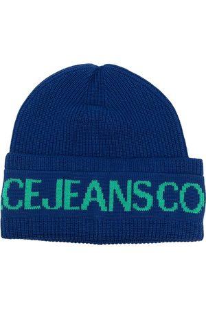 VERSACE Intarsia-knit logo wool-blend beanie