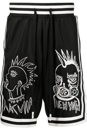 HACULLA Muži Kraťasy - Embroidered mesh-panel basketball shorts