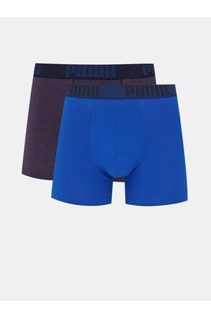 PUMA Sada dvou modrých boxerek