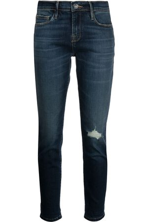 Frame Le Garcon straight-leg distressed jeans