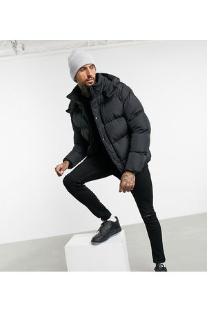ASOS Sustainable puffer jacket with detachable hood in black