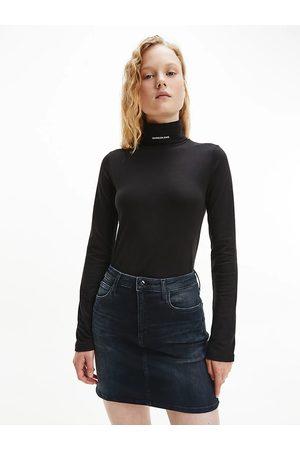 Calvin Klein Ženy Ke krku - Dámský černý rolák