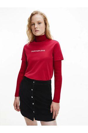 Calvin Klein Ženy Trička - Dámské vínové tričko