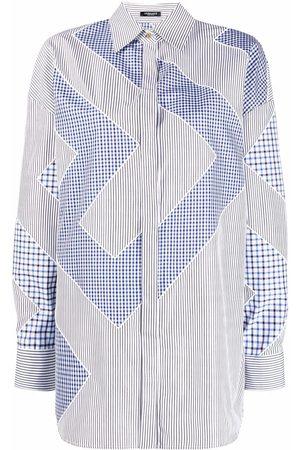 VERSACE Ženy S dlouhým rukávem - Greca-pattern long-sleeve shirt