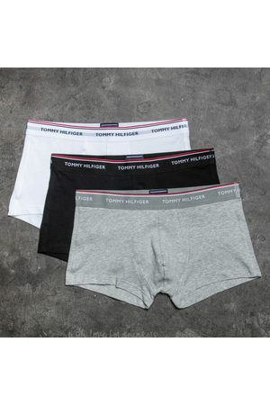 Tommy Hilfiger 3 Pack Low Rise Trunks Black/ White/ Grey Heather