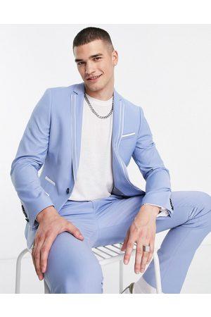 Twisted Tailor Muži Saka - Livingston skinny suit jacket in light blue