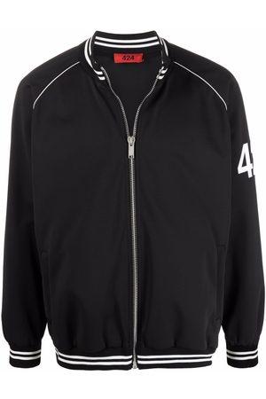 424 FAIRFAX Logo sleeve bomber jacket