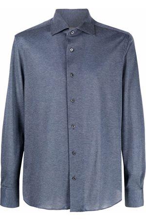 corneliani Melange long-sleeve shirt