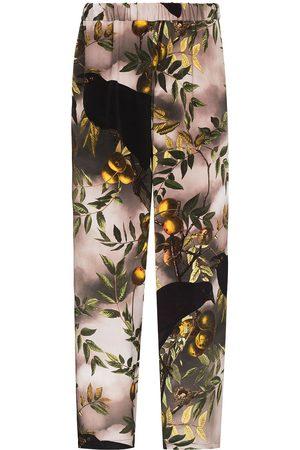 Edward Crutchley Birds print straight-leg trousers