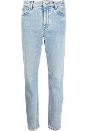 OFF-WHITE Logo-patch denim jeans