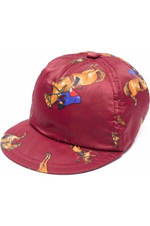 VERSACE Horse-print baseball cap