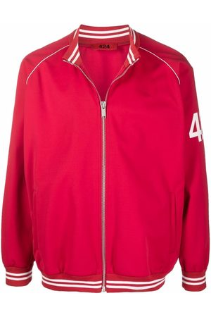 424 FAIRFAX Logo-print sleeve jacket