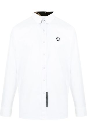 AAPE BY A BATHING APE Logo-patch long-sleeve cotton shirt