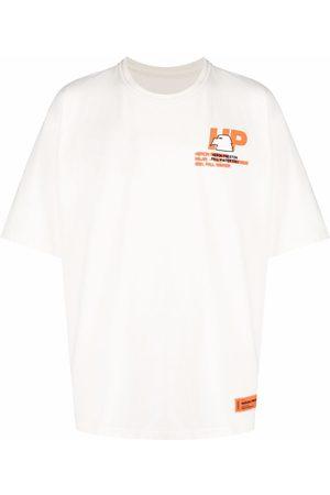 Heron Preston Muži S krátkým rukávem - Logo-print cotton T-shirt