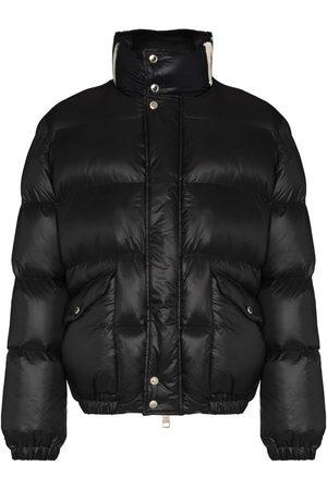 Alexander McQueen Graffiti logo-print padded jacket