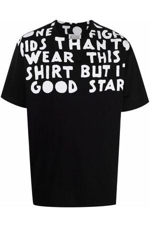 Maison Margiela Muži S krátkým rukávem - Slogan print round-neck T-shirt