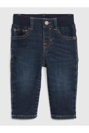 GAP Modré klučičí džíny knit denim straight