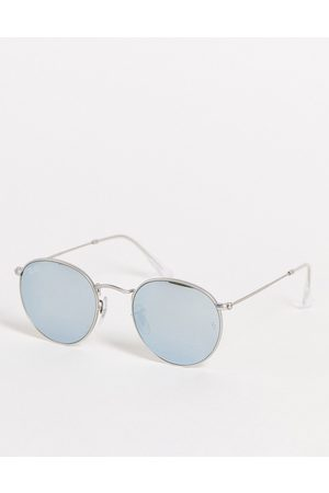 Ray-Ban Unisex round sunglasses in silver 0RB3447