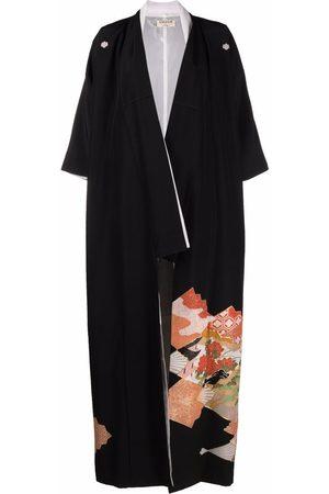 A.N.G.E.L.O. Vintage Cult Ženy Kimona - 1970s graphic-print silk kimono
