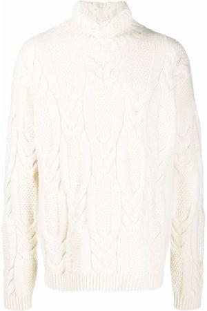 Emporio Armani Cable-knit high neck jumper