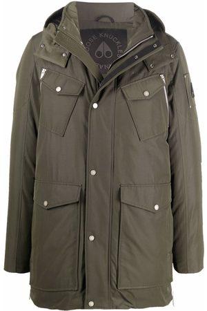 Moose Knuckles Muži Péřové bundy - Hooded feather-down padded coat