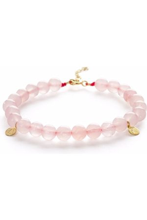 The Alkemistry 18kt yellow gold rose quartz bracelet