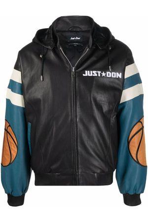 JUST DON Muži Kožené bundy - Chicago leather hooded bomber jacket