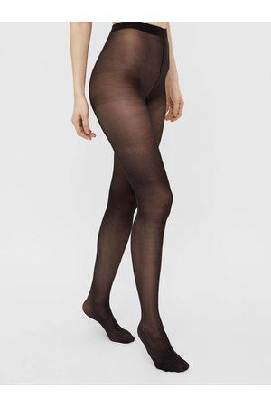 Pieces Černé punčochové kalhoty New Nikoline