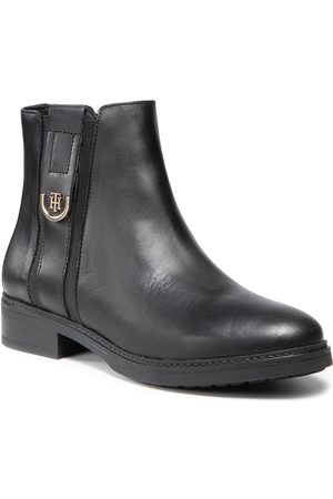 Tommy Hilfiger Th Hardware Leather Flat Boot FW0FW05996