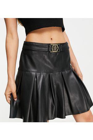 River Island Ženy Krátké - Pleated mini skirt in black