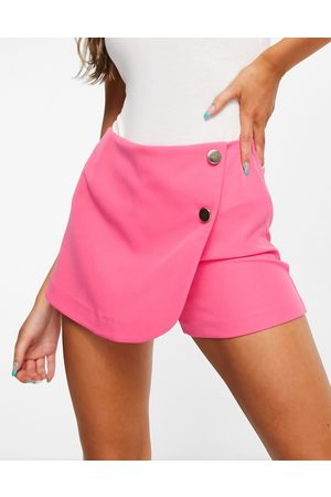 Miss Selfridge Tailored skort in hot pink