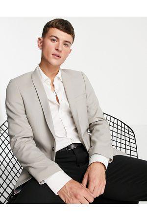 Twisted Tailor Hemmingway skinny suit jacket in beige-Neutral