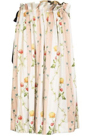 Simone Rocha Floral-print pleated midi skirt