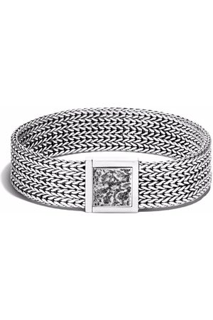 John Hardy Silver Classic Chain reticulated pusher clasp bracelet