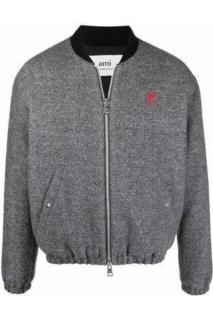 Ami Muži Bombery - Ami de Coeur zip-up bomber jacket
