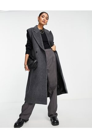 & OTHER STORIES Recycled wool tailored vest in dark grey