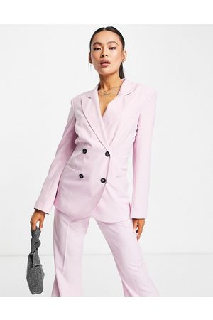 ASOS Suit blazer with nipped waist in pink