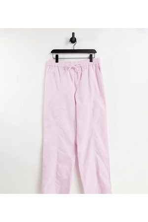 COLLUSION Rovné nohavice - Unisex straight leg trouser in pink