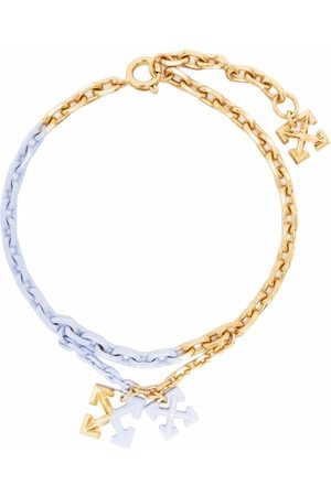 OFF-WHITE PAINTED ARROW ANKLE BRACELET GOLD LILAC