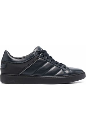 BALDININI Low-top panelled leather sneakers