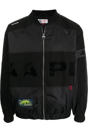AAPE BY A BATHING APE Logo-patch panelled bomber jacket