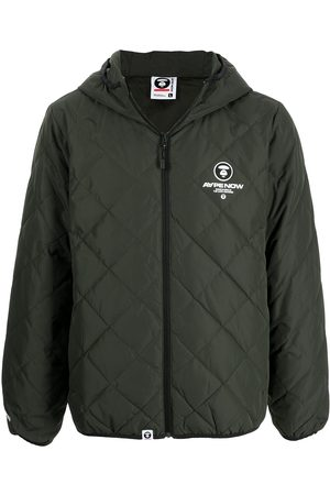 AAPE BY A BATHING APE Logo-print quilted bomber jacket