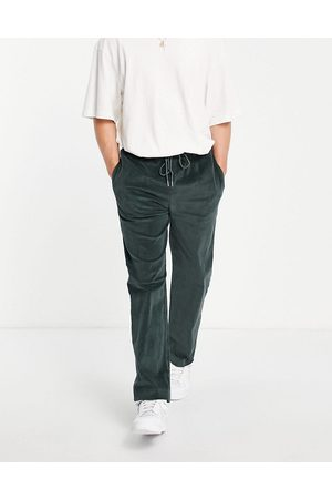 Another Reason Muži Tepláky - Cord drawstring trousers in green