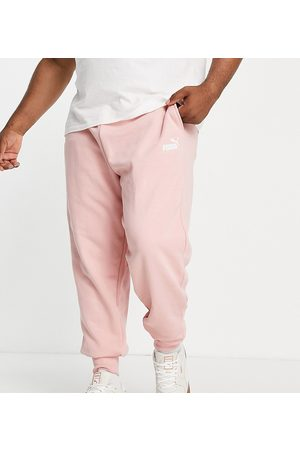 PUMA Muži Tepláky - Plus Essentials joggers in taupe-Pink
