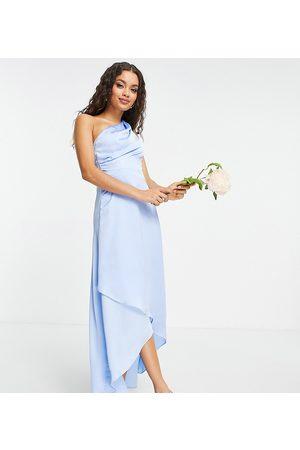 TFNC Ženy Maxi - Bridesmaid one shoulder maxi dress in light blue